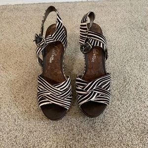 Sam Edelman Zebra Fur Wedges